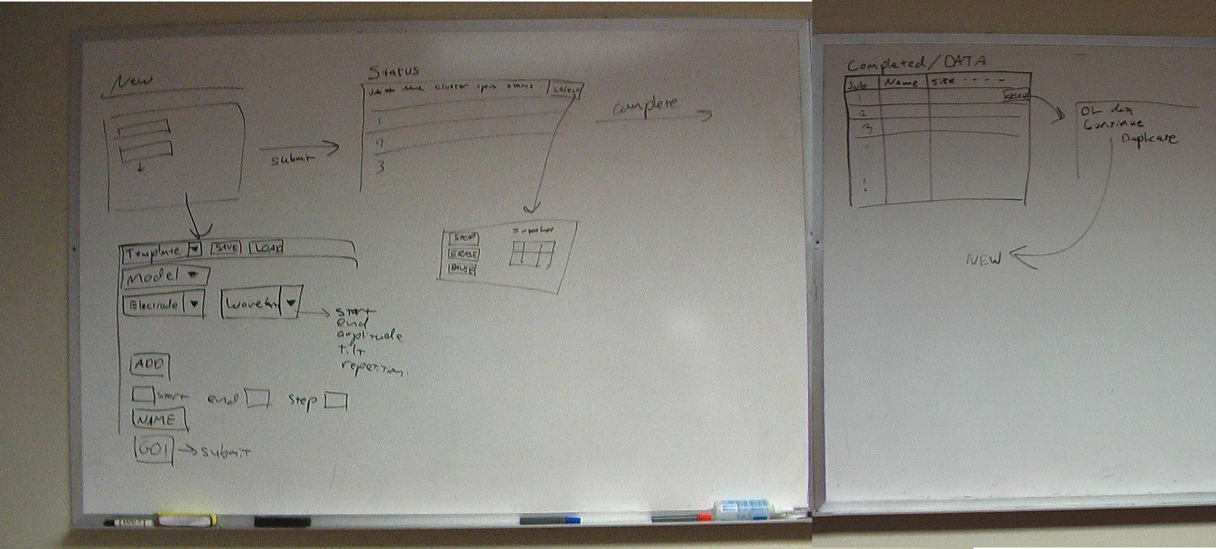 VRE UI storyboarding at the Trayanova Lab